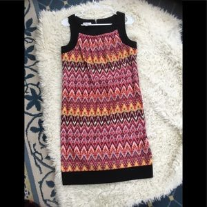 Sleeveless Multi colored psychedelic dress